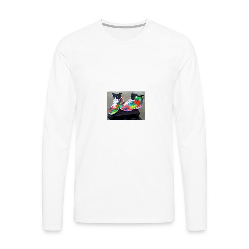 air jordan 6 galaxy customs i really like them - Men's Premium Long Sleeve T-Shirt