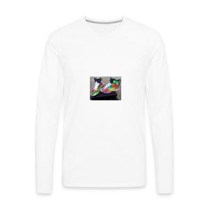 air jordan 6 galaxy customs i really like them - Men's Premium Long Sleeve T-Shirt