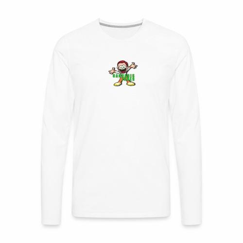 cannabis jones crazy logo - Men's Premium Long Sleeve T-Shirt