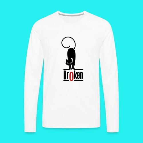 Br0ken Logo - Men's Premium Long Sleeve T-Shirt