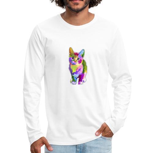 American Shorthair happy - Men's Premium Long Sleeve T-Shirt