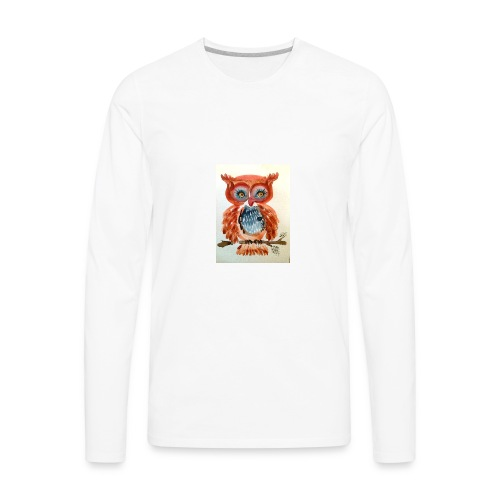 Ruby Woot Owl - Men's Premium Long Sleeve T-Shirt
