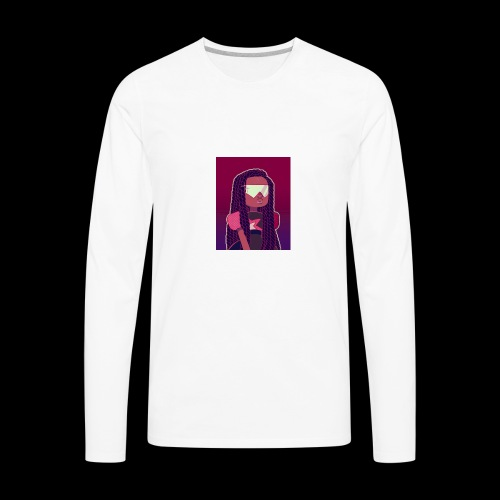 Garnet girl with Twists - Men's Premium Long Sleeve T-Shirt