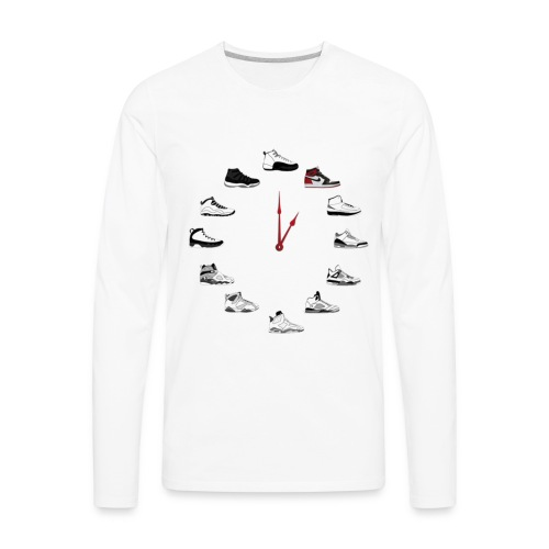 Shoe Clock Black Toe 1 s - Men's Premium Long Sleeve T-Shirt