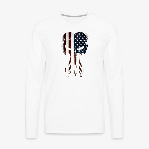Cthulhu America Full - Men's Premium Long Sleeve T-Shirt