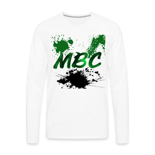 MinerBroConnor With Splatter - Men's Premium Long Sleeve T-Shirt