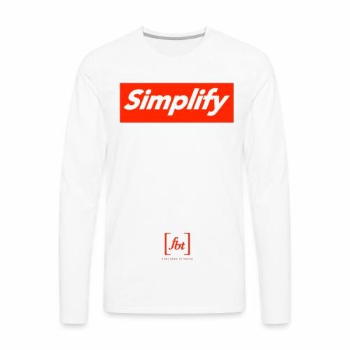 Simplify [fbt] - Men's Premium Long Sleeve T-Shirt