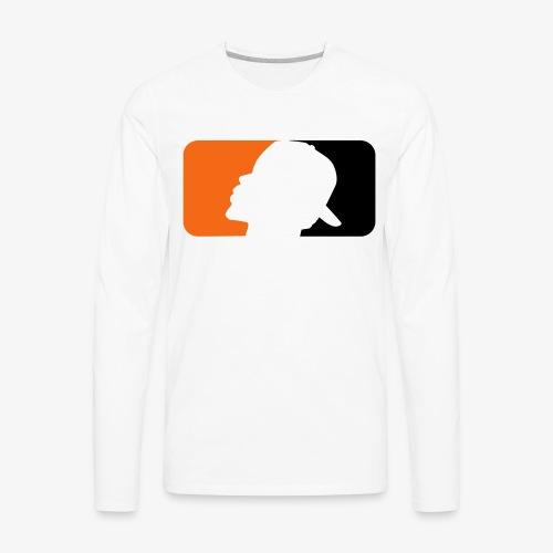 2017 T.A.T.E. Bleed Orange and Black Logo - Men's Premium Long Sleeve T-Shirt