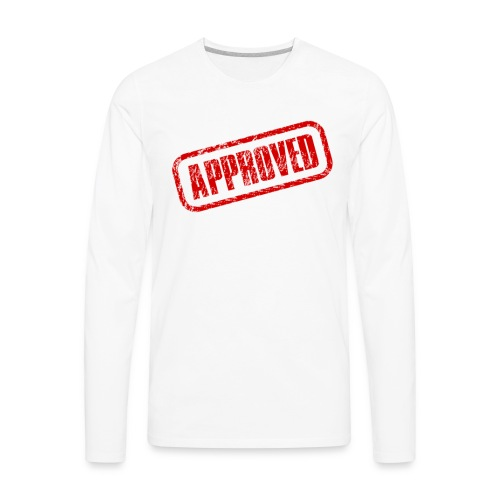 approved logo - Men's Premium Long Sleeve T-Shirt