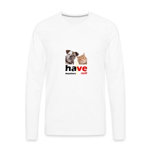 Dog & Cat - Men's Premium Long Sleeve T-Shirt