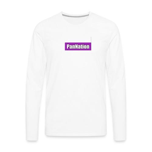 PanNation Box Logo - Men's Premium Long Sleeve T-Shirt