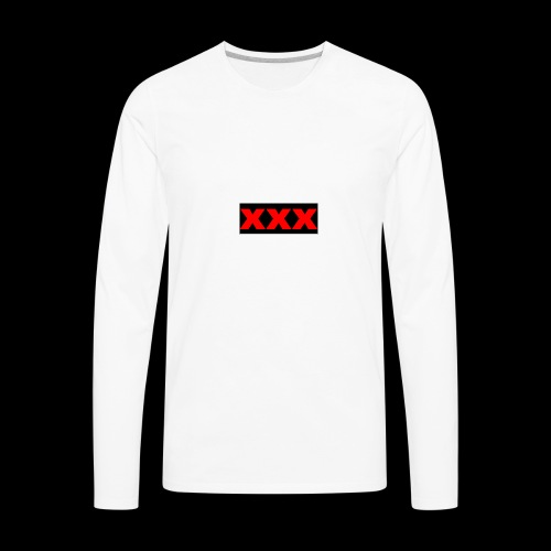 XXX OG Box Logo - Men's Premium Long Sleeve T-Shirt