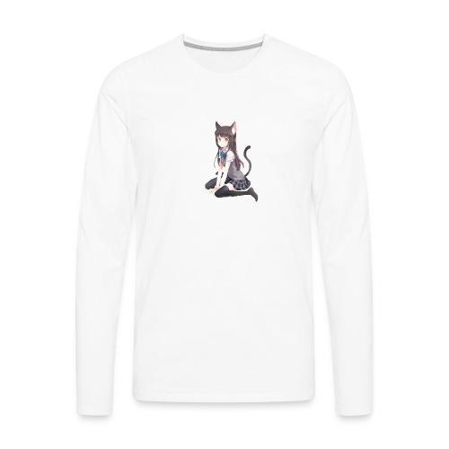 Anime Cat Lady - Men's Premium Long Sleeve T-Shirt