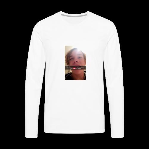 Reg taking a mad shit - Men's Premium Long Sleeve T-Shirt