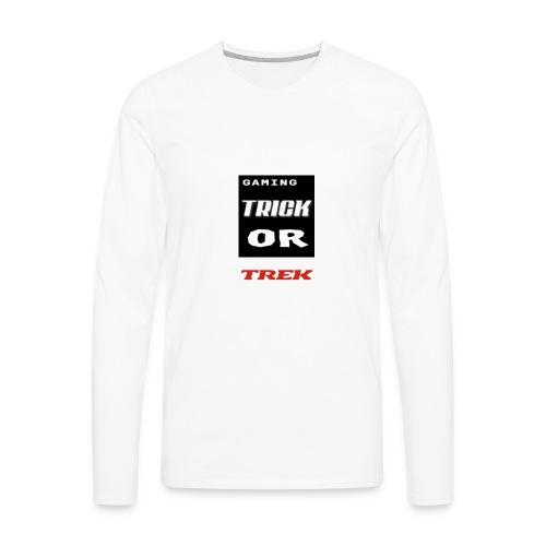 gaming trick or trek - Men's Premium Long Sleeve T-Shirt