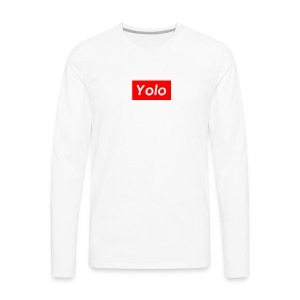 SupremeYolo Box Logo - Men's Premium Long Sleeve T-Shirt