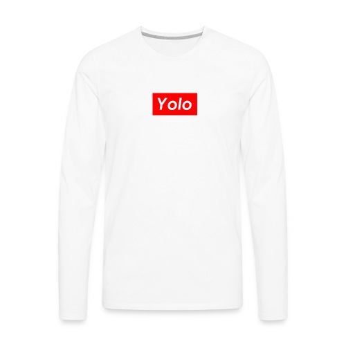 SupremeYolo Box Logo - Men's Premium Long Sleeve T-Shirt