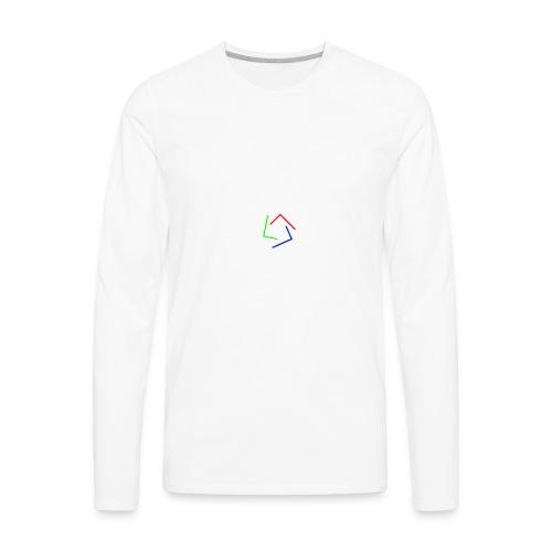 Ultra Cynet 3 Color L Logo No Text - Men's Premium Long Sleeve T-Shirt