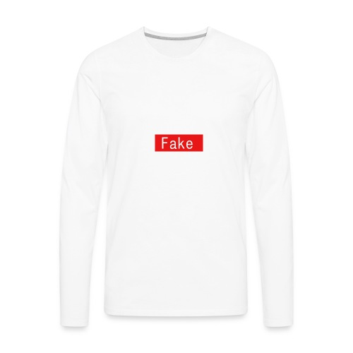 Fake By Clean Finish - Men's Premium Long Sleeve T-Shirt