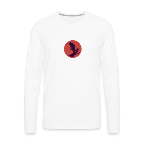 0d648f1f545ad913c20d7d6447d43449 raven circle icon - Men's Premium Long Sleeve T-Shirt