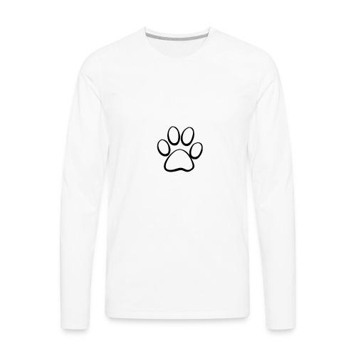 Paw White - Men's Premium Long Sleeve T-Shirt