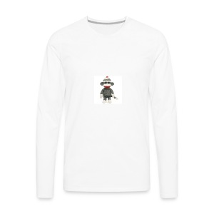 Sock Monkey - Men's Premium Long Sleeve T-Shirt