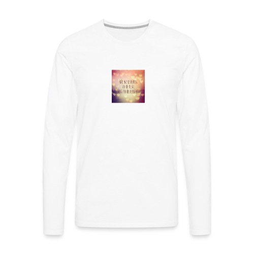 not perfect - Men's Premium Long Sleeve T-Shirt