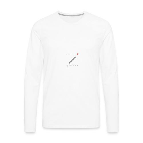 J S I L V E R - Men's Premium Long Sleeve T-Shirt