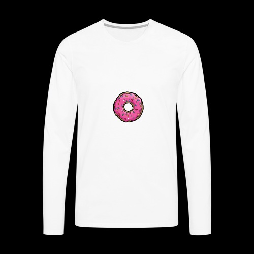 Donut Logo - Men's Premium Long Sleeve T-Shirt