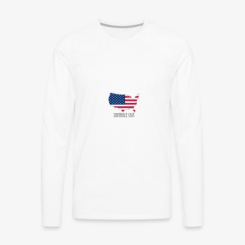 Shithole usa - Men's Premium Long Sleeve T-Shirt