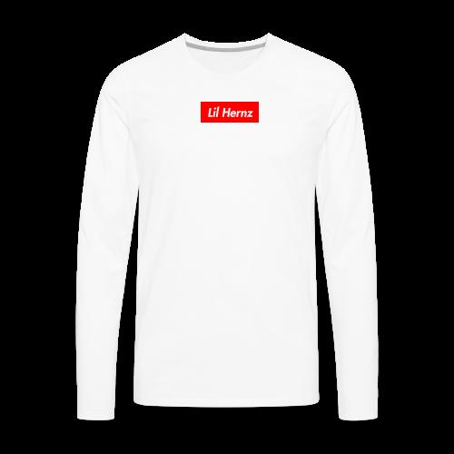 Lil Hernz Box Logo - Men's Premium Long Sleeve T-Shirt