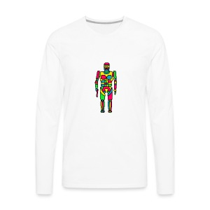 Cartoon Robocop in Color - Men's Premium Long Sleeve T-Shirt