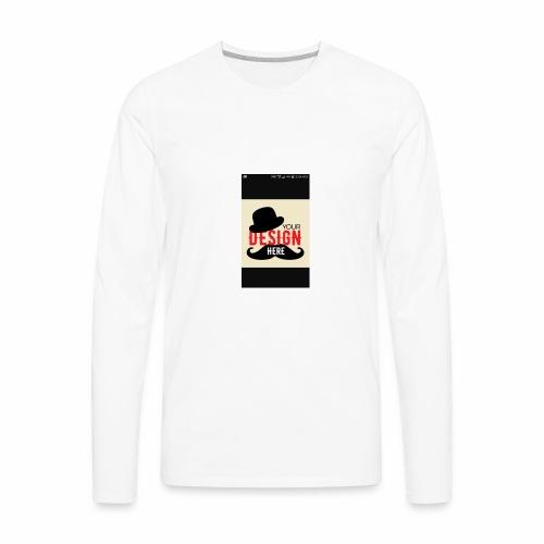 COSTUMIZE YOUR CAP - Men's Premium Long Sleeve T-Shirt