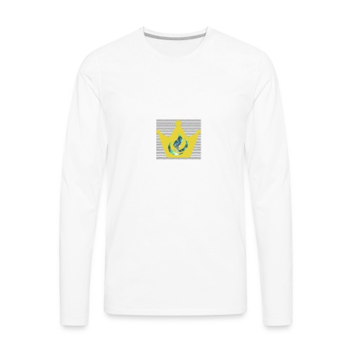 Flaming Crown - Men's Premium Long Sleeve T-Shirt
