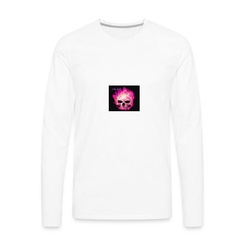 Pink Skull - Men's Premium Long Sleeve T-Shirt