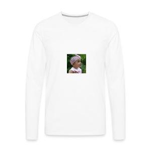 butterfly button - Men's Premium Long Sleeve T-Shirt