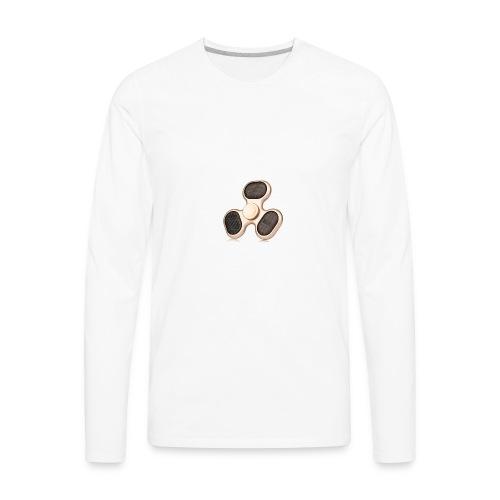 Robiear Clover Fidget Spinner - Men's Premium Long Sleeve T-Shirt
