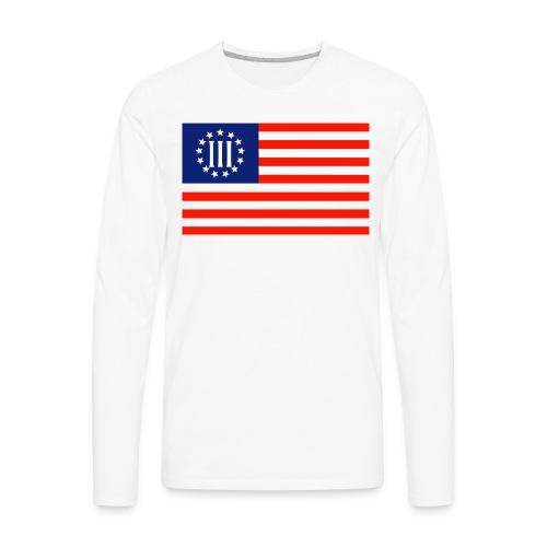 3 Percenters Flag - Men's Premium Long Sleeve T-Shirt