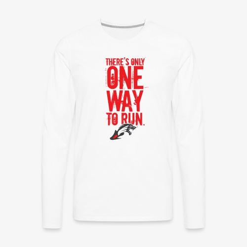 One Way BR - Men's Premium Long Sleeve T-Shirt