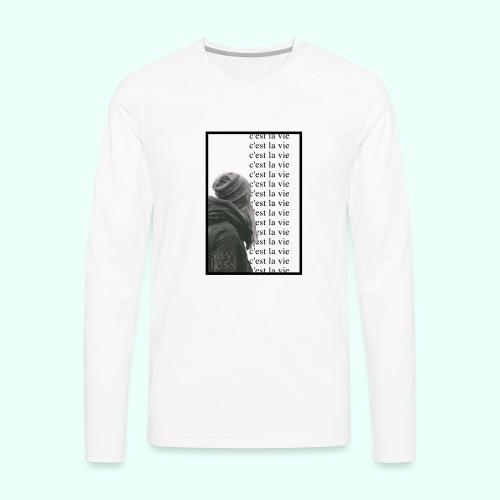 c'est la vie   repeat - Men's Premium Long Sleeve T-Shirt