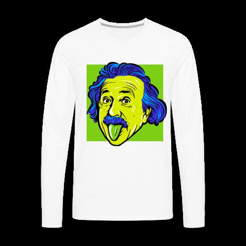 Crazy Einstein - Men's Premium Long Sleeve T-Shirt