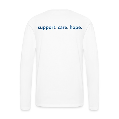 Dark Blue - Horizontal - Men's Premium Long Sleeve T-Shirt