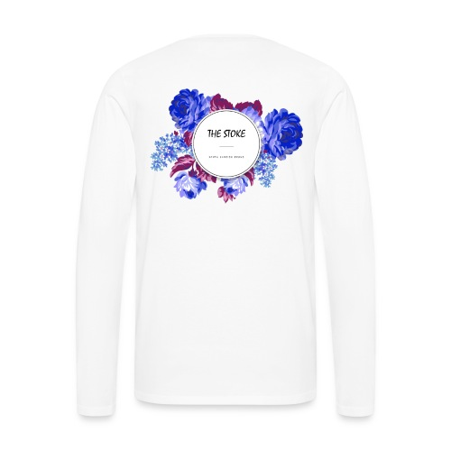 The Stoke Badge Floral - Men's Premium Long Sleeve T-Shirt