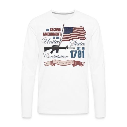 2nd Amendment Est. 1791 - Men's Premium Long Sleeve T-Shirt