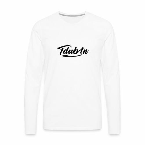 Tdub1n Black Logo - Men's Premium Long Sleeve T-Shirt