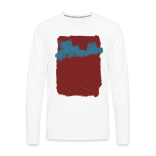 Scribble Blue Red Abstract T-shirt - Men's Premium Long Sleeve T-Shirt