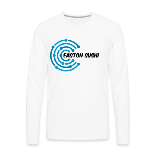 Easton Sushi Twirl Design - Men's Premium Long Sleeve T-Shirt
