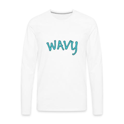 Wavy Blue - Men's Premium Long Sleeve T-Shirt