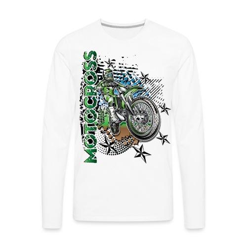 Kawasaki Dirt Bike Shirt - Men's Premium Long Sleeve T-Shirt