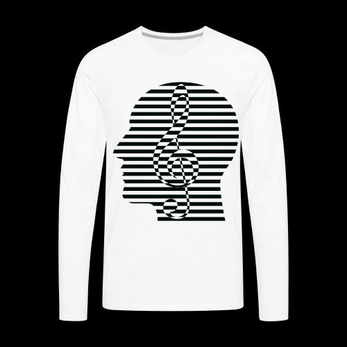 Treble Clef Cranium - Men's Premium Long Sleeve T-Shirt